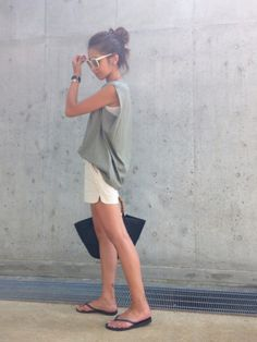 kayo AZUL by moussyのサングラスを使ったコーディネート - WEAR Summer Wear, Spring Summer Fashion, Summer Outfits, Japan Fashion, Daily Fashion, Chic Outfits, Fashion Outfits, Womens Fashion, Simple Style