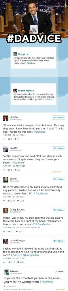 Gap Ba Gap: Top 8 Hilarious Tweets About #Dadvice ft. Jimmy Fallon
