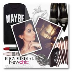 """""""Maybe he is the one..."""" by eclectic-chic ❤ liked on Polyvore featuring Yves Saint Laurent, Charlotte Tilbury, La Perla, Theodoros, NARS Cosmetics, Maybelline, Louis Vuitton, cozy, Sweatshirt and newchic"""