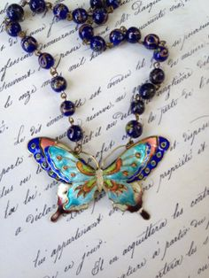 Vintage altered Assembled enameled Butterfly by thejunkdiva, $60.00