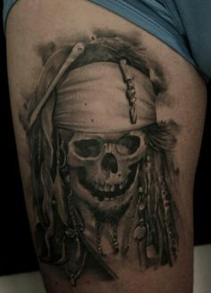 Jack Sparrow skull tattoo