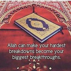 Trust only Allah. Seek help through patience and prayer ( salah). Allah u akbar