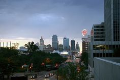 Aerial of Downtown Kansas City, Missouri by lesley zellers, via Flickr