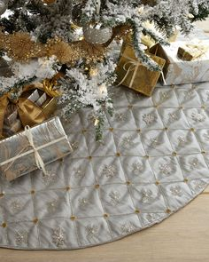 9a486e3af Image result for christmas tree skirt. See more. Beaded Snowflakes Grid  Tissue Tree Skirt Jewel Tones, Tree Skirts, Snowflakes, Sparkle,