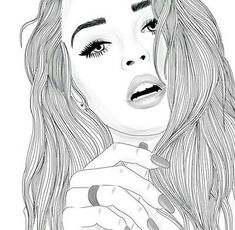 """Find and save images from the """"Cool drawings/art"""" collection by * Tumblr Girl Drawing, Tumblr Drawings, Girl Drawing Sketches, Girl Sketch, Cute Drawings, Girl Drawings, Drawing Art, Girl Outlines, Adult Coloring Book Pages"""