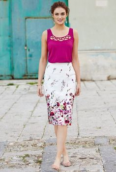 Long Tall Sally Floral Skirt