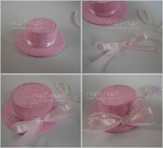 Sombrero hechos con tapas de botellas de refresco. para detalles de eventos