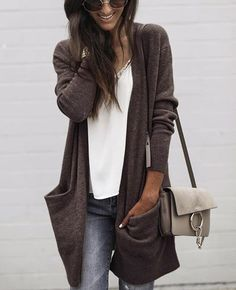 Latest fashion trends in women's Sweaters. Shop online for fashionable ladies' Sweaters at Floryday - your favourite high street store. Trend Fashion, Look Fashion, Autumn Fashion, Fashion Outfits, Womens Fashion, Latest Fashion, Fashion Lookbook, Fashion Clothes, 50 Fashion