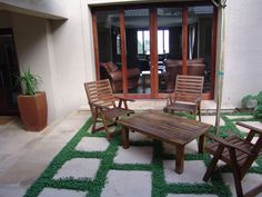 Inner Courtyard entrance to the Lounge. Flagstone Pavers, Best Web, Backyards, Entrance, Outdoor Living, New Homes, Lounge, Exterior, Patio
