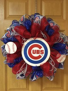 Chicago Cubs wreath by LittleDarlings1 on Etsy
