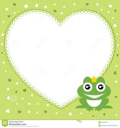 The Frog Prince With Heart Shape Frame. Stock Vector - Illustration of love, illustration: 34992163 Heart Shaped Frame, Stock Foto, Adobe Illustrator, Heart Shapes, Vector Free, Arts And Crafts, Symbols, Frame Download, Illustration