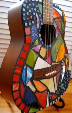 Mosaic Guitar Each can be your own custom by IDealinYourDesign