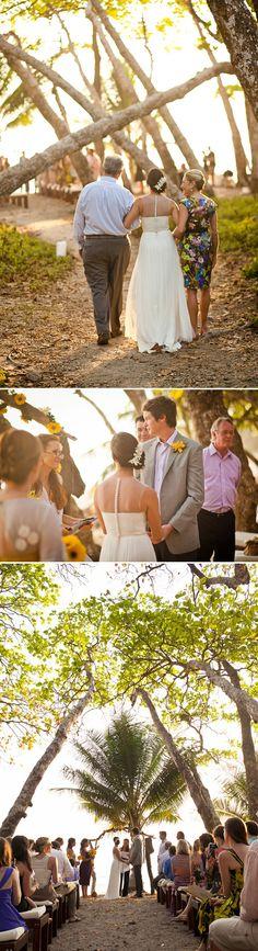 Destination Beach Wedding, Photos by A Brit and A Blond | Junebug Weddings Bride in BHLDN #BHLDNbride