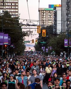 Jam Packed  Hundreds of thousands descend down Davie Street to watch the much anticipated #Disney pyrotechnics in the Honda Celebration of Light @CelebOfLight. A record number of close to 600000 people attended the final show. Captured Saturday night from the foot of Davie at Denman Street Vancouver British Columbia Canada  July 30 2016