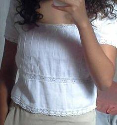 Blusa branca estilo hipe