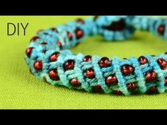 ▶ 3D Wavy Spiral Bracelet with Beads - Tutorial - YouTube