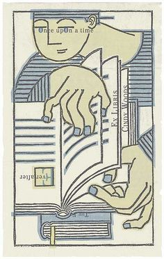 Once Upon a Time Bookplate by Cindy Woods Ex libris di Cindy Woods