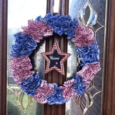 4th of July cupcake wreath