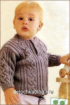 Jersey de punto para un niño - Jersey de punto, chaqueta de punto, suéter de los niños - niños que hacen punto - Tejer para los niños - que hace punto para los niños. agujas de tejer, crochet para los niños