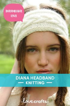 Super simple and stylish, this cabled headband knitting pattern is the perfect winter accessory. | Downloadable PDF at LoveCrafts.com
