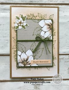 Aren't these cards beautiful? They were so easy to make with the Magnolia Lane Memories & More Card Pack and coordinating Cards & Envelopes. Making Greeting Cards, Greeting Cards Handmade, Poppy Cards, Decoupage Art, Magnolia Stamps, Magnolia Flower, Stamping Up Cards, Handmade Birthday Cards, Flower Cards