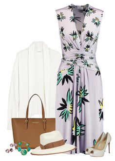 """""""Lilac (outfit only)"""" by blueeyed-dreamer ❤ liked on Polyvore featuring American Vintage, Michael Kors, Issa, Gucci, Mela Artisans, Christian Louboutin and outfitonly"""