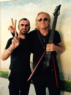 Hanging out with the incredible joe W my favorite guitarist peace and love R