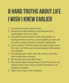 Hard but they're truths - self development, personal development, life advice Wisdom Quotes, Quotes To Live By, Life Quotes, Life Lesson Quotes, Positive Quotes, Motivational Quotes, Inspirational Quotes, Inspirational Life Lessons, The Words