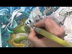 Speed Colouring: Coverack from The Magical City. Derwent Inktense pencils. - YouTube