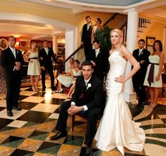 Seriously reminds me of a wedding version of the game clue..  lol