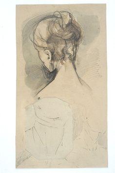 Norwid, Cyprian Kamil (1821-1883) [Szkic głowy kobiecej od tyłu i studia głowy poniżej]