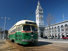 The 'City of Brotherly Love' first ran PCC streetcars in 1938 (Muni No. 1060 wears the original silver paint scheme). Philadephia PCC streetcar no. 1055 in front of San Francisco's Ferry Building. Steve Ferarrio photo. After World War II, Philadelphia Transportation Co. (PTC) ordered 210 more PCCs from St. Louis Car Company. This car, numbered 2122 in Philly (now Muni No. 1055), was delivered in 1948 wearing this livery of green, cream, and red. The city later added 90 secondhand PCCs from…