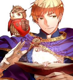 """I'm sure most people think Arthur looks really cool in this. Me...I'm just going, """"Look at that owl - it's so cute!!!"""""""