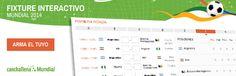 Fixture Interactivo Online del Mundial Brasil 2014 – TODOS los Partidos y Horarios