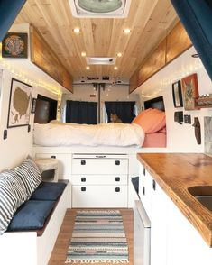 Advice for building and living in a diy ford transit camper conversion. This - Van Life Ford Transit Camper Conversion, Van Conversion Interior, Camper Van Conversion Diy, Van Conversion Kitchen, Sprinter Van Conversion, Ford Transit Campervan, Ford Transit Connect Camper, Van Conversion Lighting, Van Conversion Bed Ideas