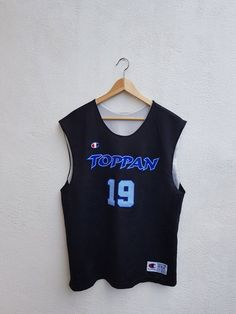 e56b61ec98e5 Vintage 90s TOPPAN NBA Basketball Champion Product Riversible 19 Tank Tops Jersey  Size