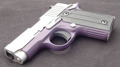 purple SIG P238...not usually into girly for guns, but this is neat