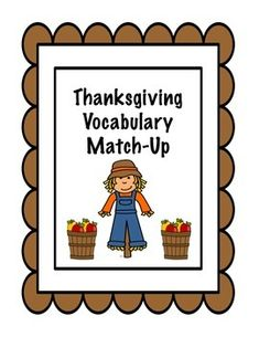 These cards are great for playing matching games when matchingword to definition when talking about Thanksgiving related vocabulary.