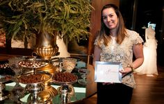 Maria Fernanda Ramos, from Chez Bonbon, next to the delightful gourmet chocolates that were a hit during the WEDDING AWARDS.