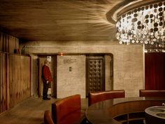 SLOVAKIA / Bratislava A porter in the lift of the no longer used 'Club Kyjev' © Docubyte / Anzenberger Arch Interior, Interior Design, Retro Futurism, Architecture Details, Mid Century, Bratislava Slovakia, Building, Palaces, Iron