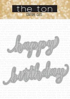 Birthday Word Dies