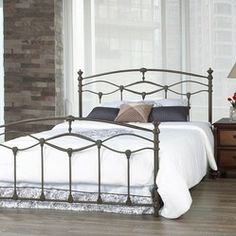 Wrought Iron Bed Frame IKEA | Wrought Iron Bed Frame - Romantica French Grey Queen Wrought Iron Bed ...