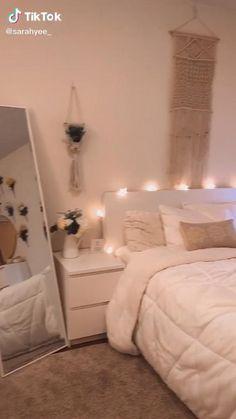 Cute Bedroom Decor, Room Design Bedroom, Room Ideas Bedroom, Home Room Design, Small Room Bedroom, Cozy Room, Aesthetic Bedroom, Dream Rooms, House Rooms