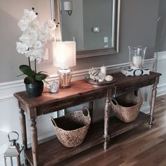 Hamptons inspired foyer