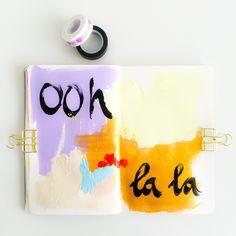 Ooh la la! #100daysofartjournaling #day73 #art #artjournal #paint #painting @elmadejonge on instagram
