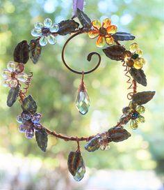 Wire Crafts, Bead Crafts, Jewelry Crafts, Wire Wrapped Jewelry, Wire Jewelry, Jewelry Art, Jewellery, Garden Crafts, Garden Art