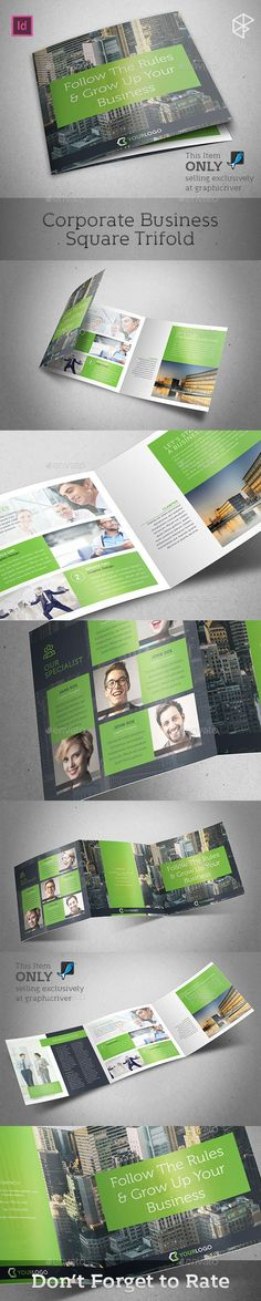 Corporate Business Square Trifold Template #design Download: http://graphicriver.net/item/corporate-business-square-trifold/13375869?ref=ksioks