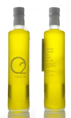 The concept for 02 Greek Olive Oil is simple elegance with a bottle that allows you to immediately see the oil's unique color.  Each bottle has a number which you can login to their website and retrieve information regarding chemical analysis, harvest date and field from which it was harvested.