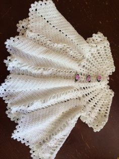 Baby Doll Dress by RoseysReflections on Etsy Crochet Potholder Patterns, Loom Crochet, Crochet Baby Dress Pattern, Crochet Mandala Pattern, Baby Dress Patterns, Baby Girl Crochet, Crochet Baby Clothes, Baby Knitting Patterns, Crochet Crafts
