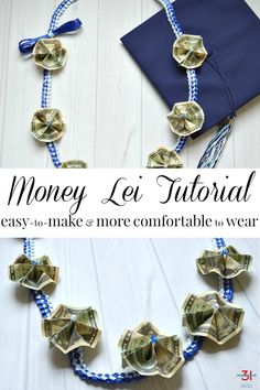 Money Lei Tutorial with Ribbon Lei - Organized 31